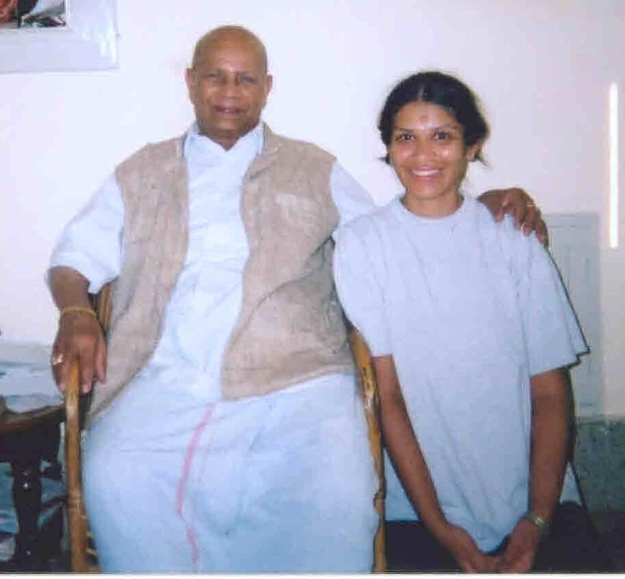 PNS and Pattabhi Jois Photo